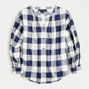 J. Crew Tops - J.Crew Open V-Neck Shirt in Buffalo Check Flannel